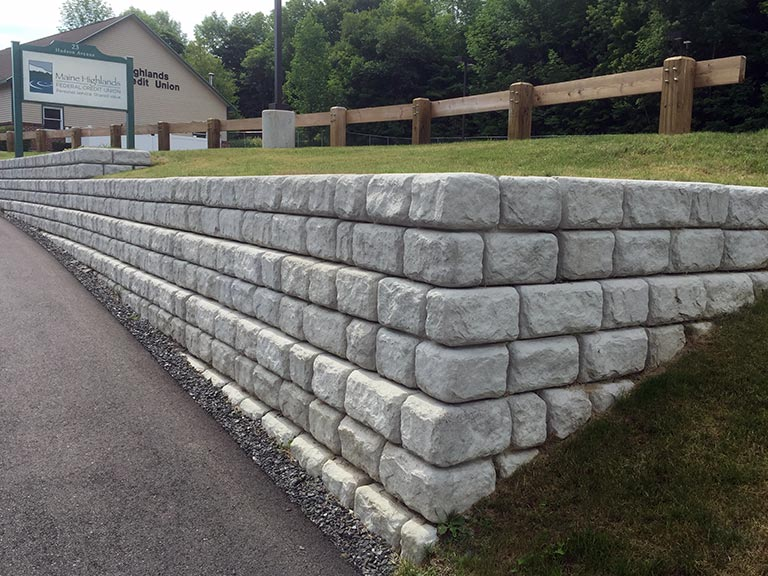 Block Retaining Wall Tie Backs : Central maine retaining wall block supplier walls